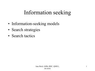 Information seeking