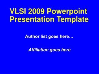 2009 Powerpoint Presentation