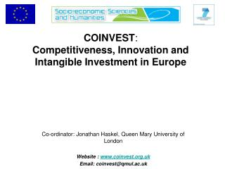 COINVEST : Competitiveness, Innovation and Intangible Investment in Europe