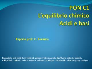 PON C1 L'equilibrio chimico Acidi e basi