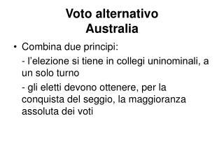 Voto alternativo Australia