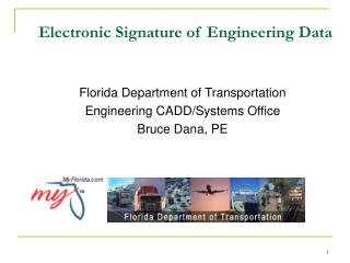 Electronic Signature of Engineering Data