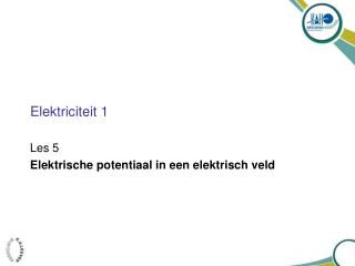 Elektriciteit 1