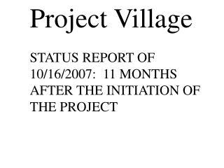 Project Village