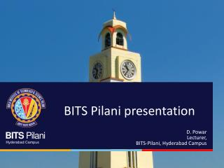BITS Pilani presentation