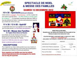 SPECTACLE DE NOEL & MESSE DES FAMILLES