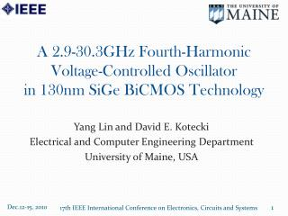 A  2.9-30.3GHz Fourth-Harmonic  Voltage-Controlled Oscillator  in  130nm  SiGe BiCMOS Technology