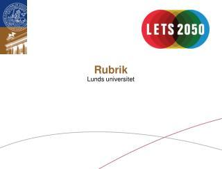 Rubrik Lunds universitet