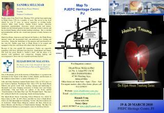For Enquiries contact: Elijah House Malaysia Bhd c/o No. 2, Jalan PJU 1A/3C ARA DAMANSARA