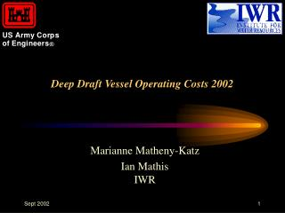 Deep Draft Vessel Operating Costs 2002