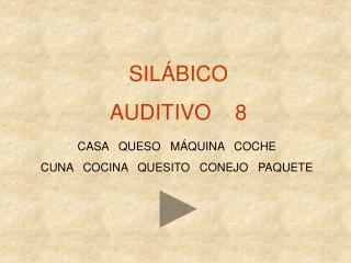 SIL�BICO AUDITIVO    8