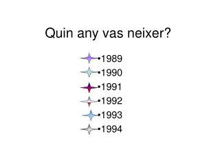 Quin  any vas neixer?