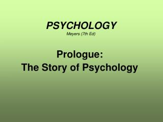 PSYCHOLOGY Meyers (7th Ed)