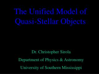 The Unified Model of Quasi-Stellar Objects
