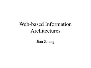 Web-based Information Architectures