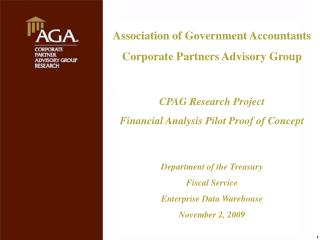 Association of Government Accountants Corporate Partners Advisory Group