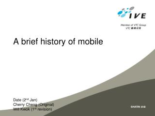 A brief history of mobile