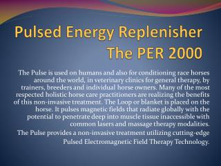 Pulsed Energy Replenisher The PER 2000