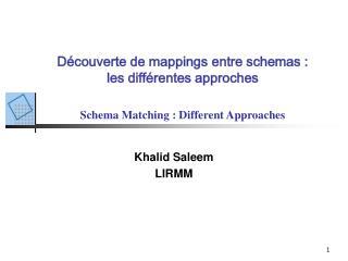 Khalid Saleem LIRMM