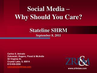 Social Media –  Why Should You Care?