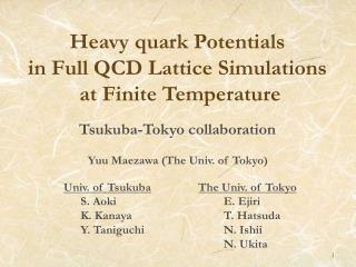 Heavy quark Potentials  in Full QCD Lattice Simulations  at Finite Temperature
