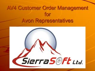 AV4 Customer Order Management for Avon Representatives
