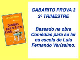 GABARITO PROVA 3 2º TRIMESTRE