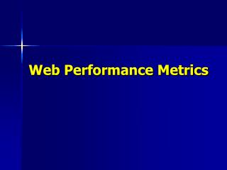 Web Performance Metrics