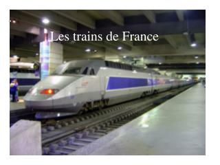 Les trains de France
