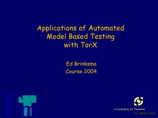 Applications of Automated Model Based Testing with TorX