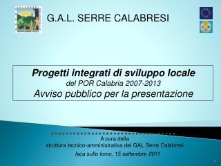 G.A.L. SERRE CALABRESI