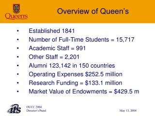 Overview of Queen�s