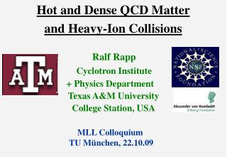 Hot and Dense QCD Matter  and Heavy-Ion Collisions