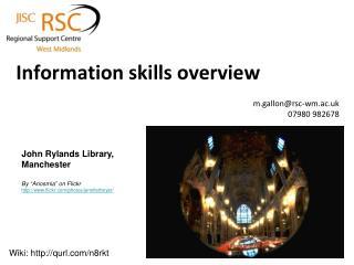 Information skills overview
