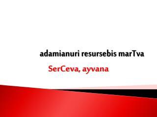 adamianuri resursebis marTva