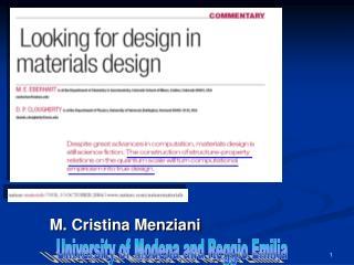 M. Cristina Menziani