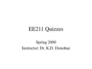 EE211 Quizzes