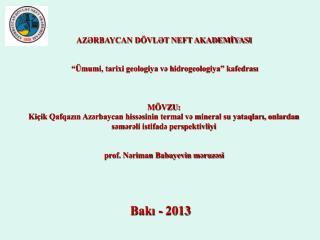 Bakı -  2013