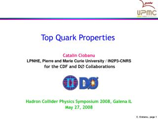 Top Quark Properties