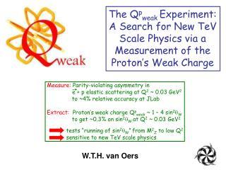The Q p weak  Experiment: