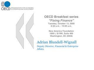 Adrian Blundell-Wignall Deputy Director, Financial & Enterprise Affairs