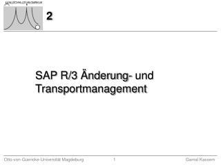 SAP R/3 Änderung- und Transportmanagement