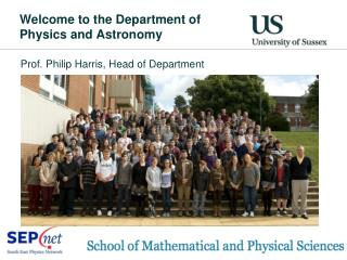 Welcome to the Department of Physics and Astronomy