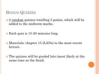 Bonus Quizzes