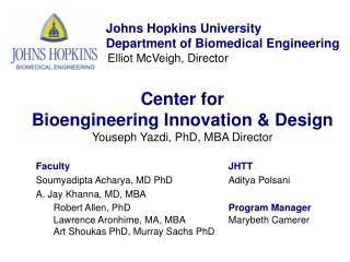 Johns Hopkins University 		     Department of Biomedical Engineering