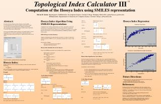 Topological Index Calculator  III