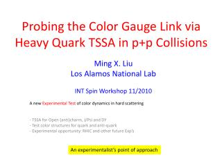 Probing the Color Gauge Link via Heavy Quark TSSA in  p+p  Collisions