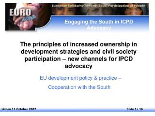 Engaging the South in ICPD Advocacy