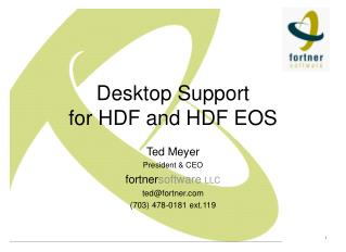 Desktop Support for HDF and HDF EOS