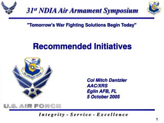 31 st  NDIA Air Armament Symposium
